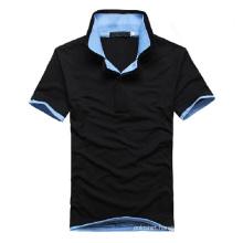 Short Sleeve High Quality Men′s Double Collar Polo Shirt