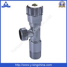 Хромированный латунный угловой клапан с пластиковой ручкой (YD-5013)