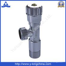 Хромированный угловой латунный клапан с пластиковой ручкой (YD-5013)