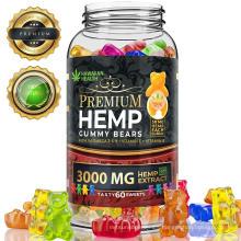 3000mg Natural Hemp Bears Gummies Organic Hemp Candy Private label