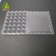 Plateau d'emballage d'oeufs de caille en plastique de 30 trous