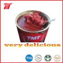 Turco 830g de pasta de tomate enlatada con precio bajo