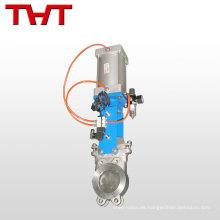 Válvula de compuerta de cuchilla de acero de fundición accionada eléctricamente pn25 dn400 8 pulgadas