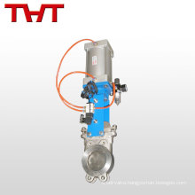 Electrically actuated flanged cast steel knife gate valve pn25 dn400 8 inch