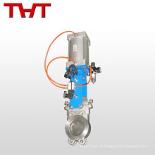 Электрическим приводом Фланцевый литой стальной нож ворота клапан pn25 Ду400 8 дюймов