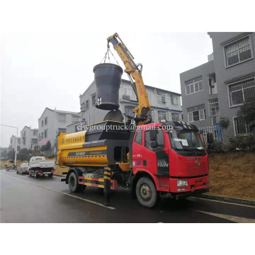 Lift type compressed garbage truck
