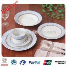 Royal Blue and White Round Dinnerware Set