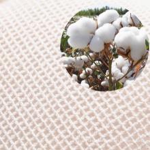 Reusable organic cotton produce mesh drawstring bag for fruits vegetables