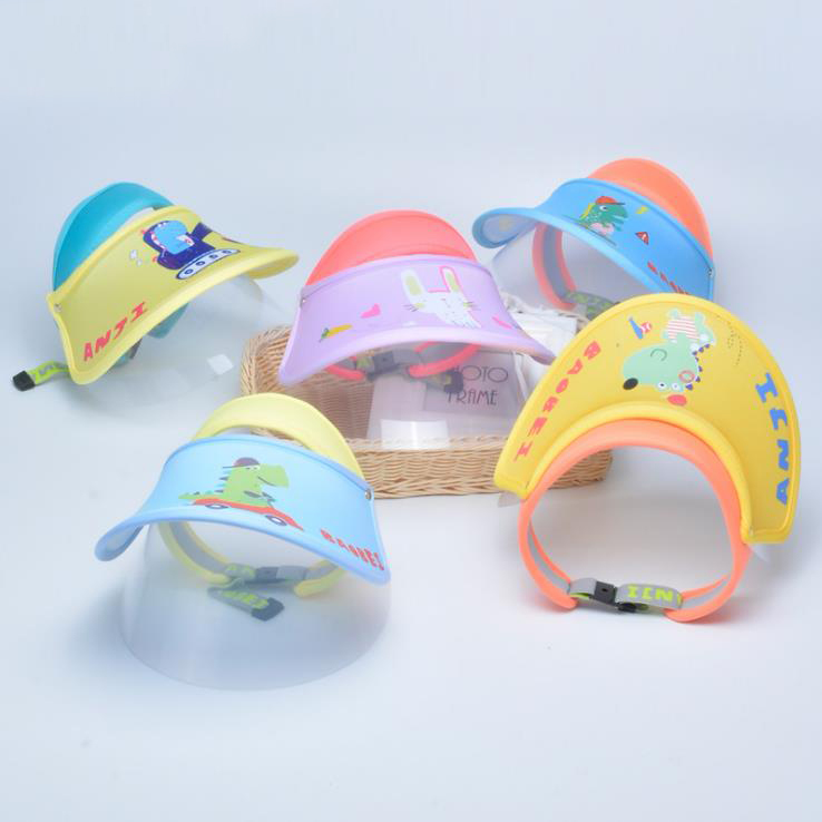 Children Protective Mask Face Shield Mask Hat Visor Cap Plastic Manufacture