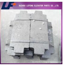 Лифт бетонный противовес Лифт цементный противовес Блок, лифт Балансировочный блок