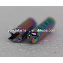 2016 forma de moda de la decoración de calzado de zapatos multicolores metal estampado cordón cordón de metal final