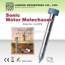 Anti mole gopher jardín animal repeller mole chaser mole repeller chase uso de la batería 24 horas de trabajo