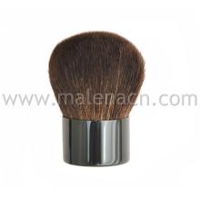 Pequena escova de Kabuki com cabelos naturais