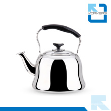 Popular Stainless Steel Water and Tea Kettle with Cool Black Handle