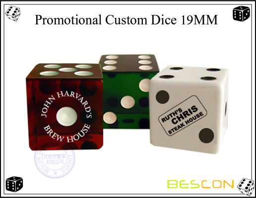 Promotional Custom Dice 19MM