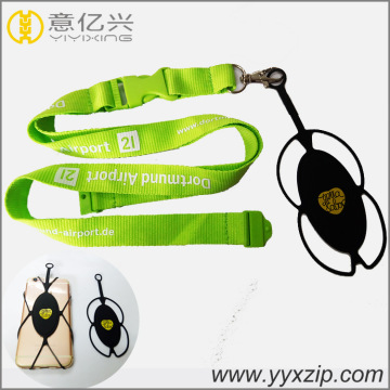 Silicone Cell Phone Lanyard With Card Holder