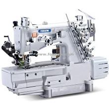 Máquina de costura automática completa do aparador de linha de bloqueio com extrator traseiro