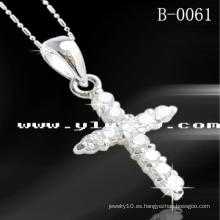 925 colgantes de la cruz de la plata esterlina (B-0061)