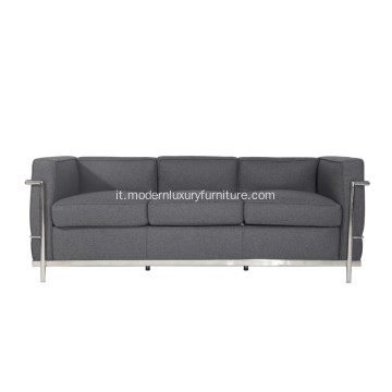 Le Corbusier LC2 Fabir 3 Seater Sofa Replica