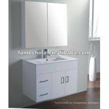 Armario del cuarto de baño del MDF con el gabinete del espejo