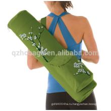 2016 хлопок пена ролик йоги сумка для переноски