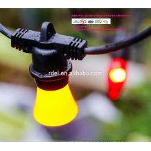 Chaîne imperméable à l'eau de 15M 15 prises de courant allumant la lumière de chaîne de vacances de la catégorie E26 E27 LED SLT-192