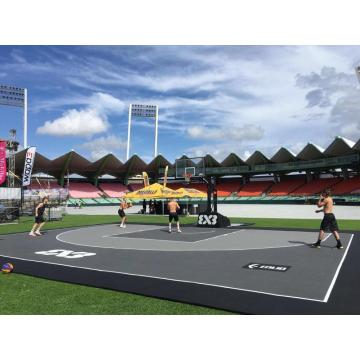 Enlio FIBA ​​3X3 approbation carreaux de verrouillage sport de basket-ball