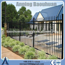 high quality powder coating crimped spear top steel fence