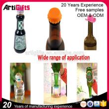 Los productos más nuevos de la promoción diversas clases de tapas de botella de agua del silicón de los colores
