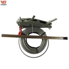 Levantamento da construção e içando a grua manual do extrator da corda de fio do cabo das ferramentas