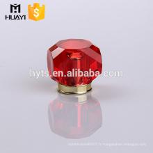 bouchon de bouteille de parfum rouge cristal luxe pulvérisateur