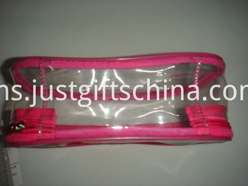 Promotional PVC Zipper Cosmetic Bags Full Color Printed Both Sides (5)