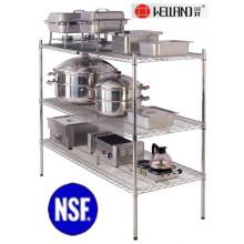 Estante de almacenamiento para cocina profesional de acero inoxidable
