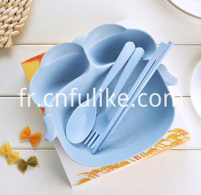Bamboo Fiber Child Tableware