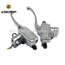 New 1 Inch 25mm Universal Motorcycle Brake Master Cylinder Hydraulic Clutch Lever Left & Right One Set