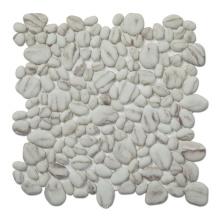 Random Marble Look Full Body  Pebble Stone Recycled Glass Mosaic Tile for Kitchen Backsplash