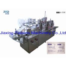 Única máquina úmida lateral da fabricação de tecido de selagem lateral do Packle 4 do Towelette úmido