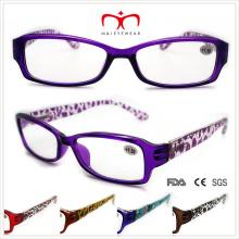 Unisex lentes de lectura de plástico con patrón de leopardo (wrp508330)