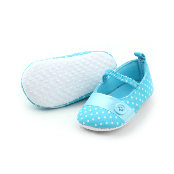 Wholesales Blue Cotton Baby Dress Shoes
