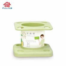 Suporte para escova de dentes de fibra de bambu - artigos de toalete práticos