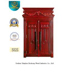 Puerta de metal de doble seguridad de estilo clásico con talla (m2-1015)