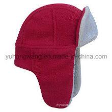 Sombrero / casquillo polares tejidos calientes del paño grueso y suave del invierno al por mayor