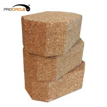 High Quality Wood Color Non Slip Natural Cork Yoga Block