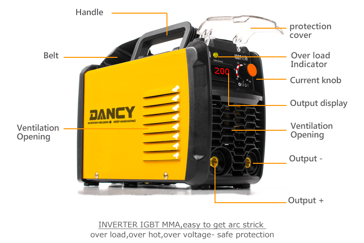 dc inverter arc mma 200 welding machine