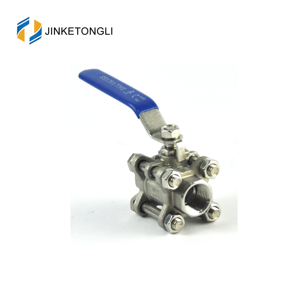 JKTL3B012 a216 wcb 3pc tangki air cor iron sharpe ball valves