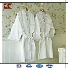 Tissu de gaufre de haute qualité avec broderie Coton Blanc Peignoir personnalisé