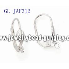 Fan lever back findings jewelry accessories