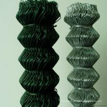 Clôture de maillon de chaîne enduit de PVC de haute résistance