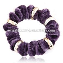 Alta qualidade metal flannelette corda moda cabelo banda
