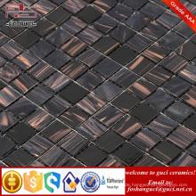 China liefern Fabrik billige Produkte schwarz gemischt Hot - schmelzen Fliesen Mosaik Design